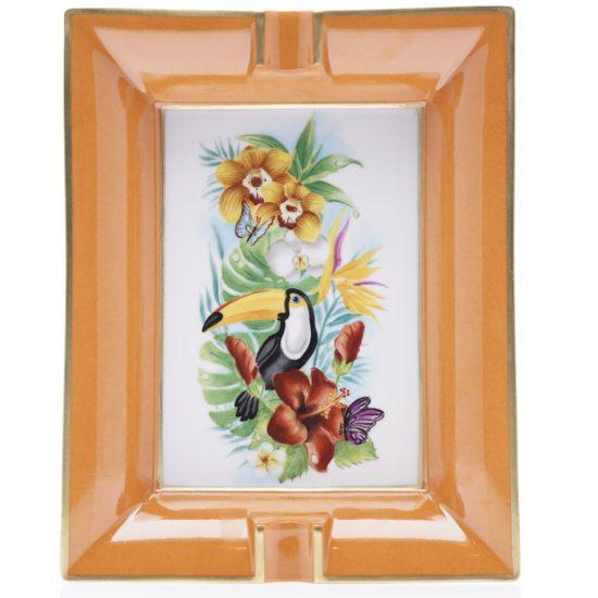 VP toucan et fleurs