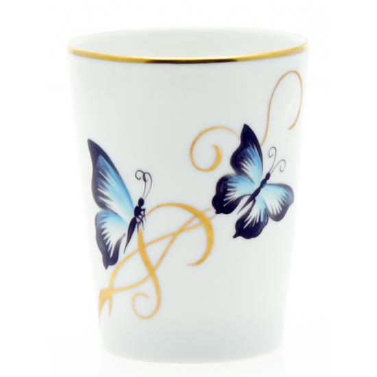 gobelet papillon bleu noir