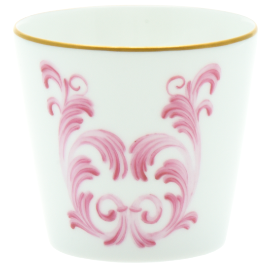 verre ornements rose