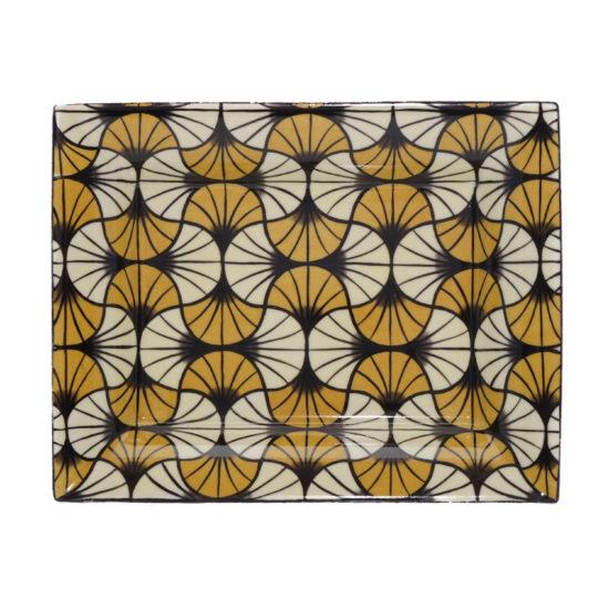 Vide-poches collection Mosaïque Art Déco jaune