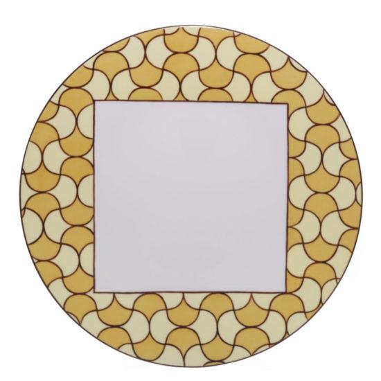 Assiette à dîner collection Mosaïque Art Déco jaune