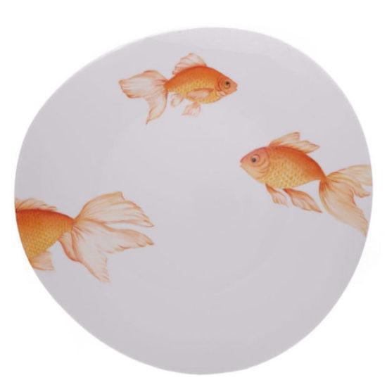 Assiette à dîner collection Poisson japonais modèle Galet