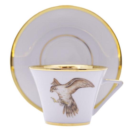 Tasse à déjeuner et sous-tasse Vol du Faucon modèle Thalès