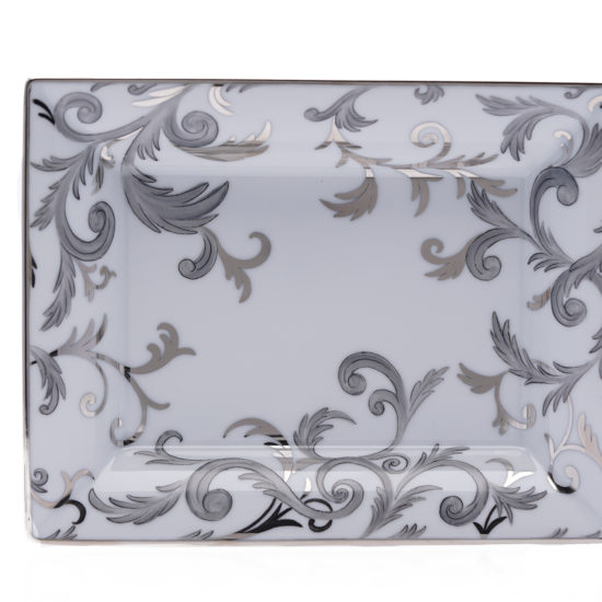Vide-poches collection Arabesque Platine