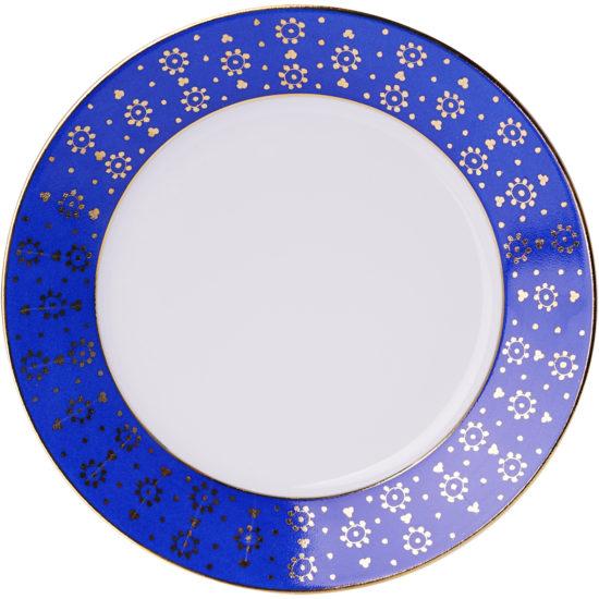 Assiette-à-dessert-collection-Bleu Roi