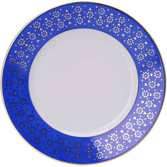 Assiette-à-diner-collection-Bleu Roi