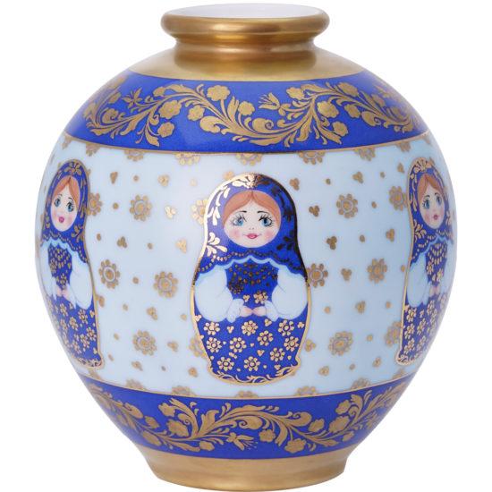 Vase Matriochka Bleu collection MyRussie