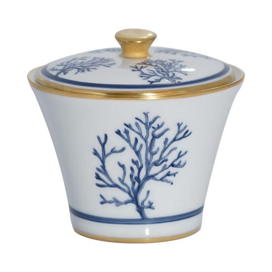 Sucrier collection Corail Cap d'Ail bleu modèle Thalès